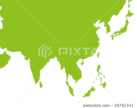 World Map Worldmap Southeast Asia Stock Illustration 28792342