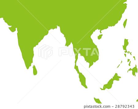 World Map Southeast Asia Indian Stock Illustration 28792343