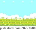 거리, 꽃밭, 거리 풍경 28793688