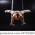 circus artist on the aerial straps man 28793964