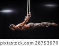 circus artist on the aerial straps man 28793970