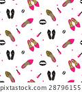 Chic girl fashion seamless pattern. 28796155