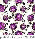 pattern rose floral 28796158