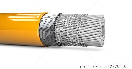 3d Illustaration of Abstract nano tube structure. 28796390