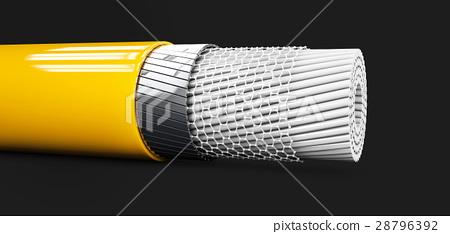 3d Illustaration of Abstract nano tube structure 28796392