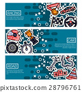 Set of Horizontal Banners about racing 28796761