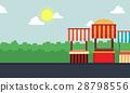 Landscape of street stall vector art 28798556