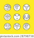 Hand drawn set of emoticons 28798738