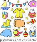 Collection of baby style set doodles 28798762