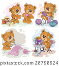 Set of vector clip art illustrations of teddy 28798924