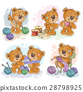 Set of vector clip art illustrations of teddy 28798925