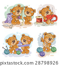 Set of vector clip art illustrations of teddy 28798926