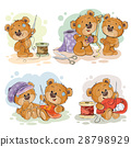 Set of vector clip art illustrations of teddy 28798929