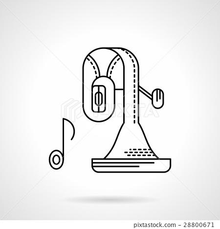 Tuba music flat line vector icon 28800671