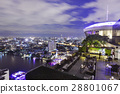 Restaurant couch bar with view of Bangkok 28801067