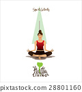 woman doing yoga sport activity for healthy living 28801160