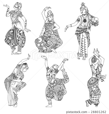 Indian dancer in the style mihendi 28801262