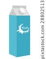 milk, flat, icon 28802513