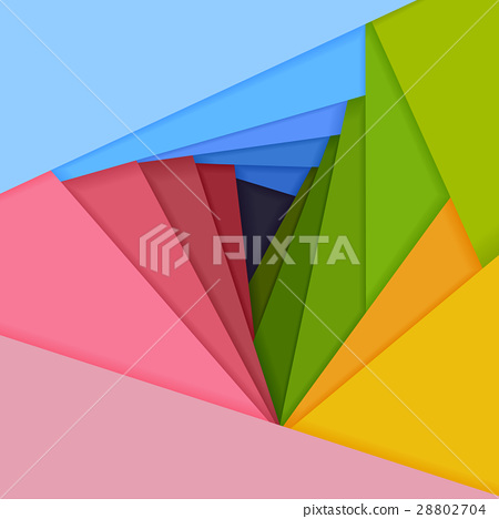 Vector colored paper lie on each other. 28802704