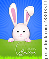 Cute Easter bunny. Egg Hunter. Happy Easter 28803511