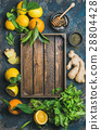 Ingredients for making natural drink with wooden 28804428