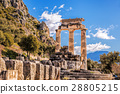Delphi with ruins of the Temple in Greece 28805215