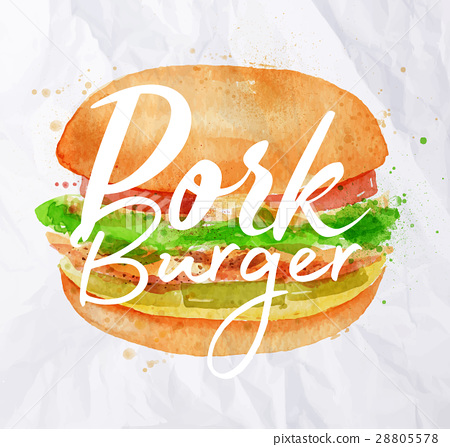 Pork burger 28805578