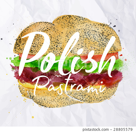 Polish pastrami burger 28805579