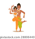 vector dancer indian 28806440