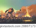 藝術的 繪畫 機器人 28807173