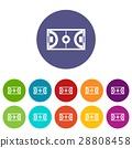 Futsal or indoor soccer field set icons 28808458