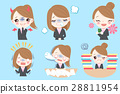 businesswoman do different emotion 28811954