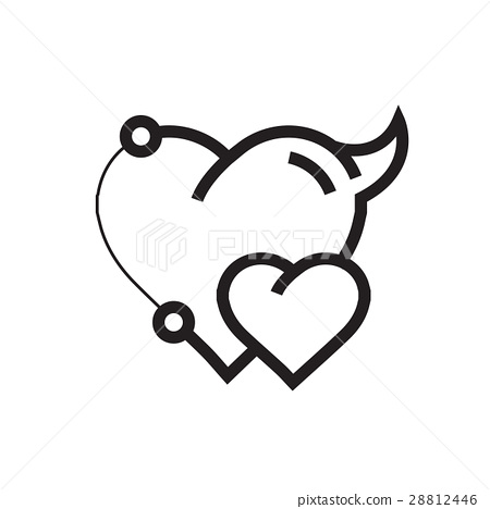 Two Heart Devil Pen tool Style 28812446