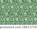 連続草花模様大-緑-A 28813738