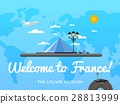 Welcome to France poster with famous attraction 28813999