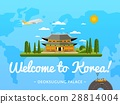 Welcome to Korea poster with famous attraction 28814004
