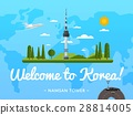 Welcome to Korea poster with famous attraction 28814005