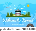 Welcome to Korea poster with famous attraction 28814008