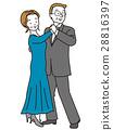 交谊舞 夫妇 一对 28816397