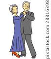 交谊舞 夫妇 一对 28816398