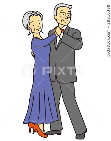 交誼舞 夫婦 一對 28816398