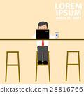 man at work sitting in cafe, 28816766