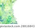 水彩雪葉背景材料 28816843
