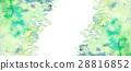 水彩雪葉背景材料 28816852