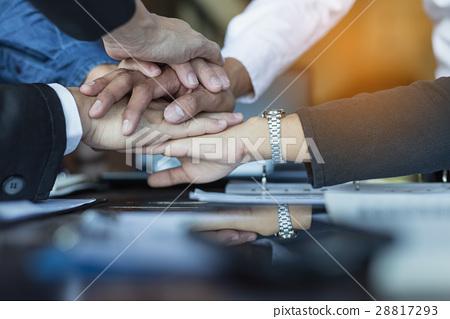 Teamwork concept, Business handshake in office. 28817293
