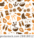 indian food theme set of simple icons pattern 28818012