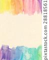 水彩紋理紙質量 28818561