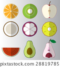 fruit, flat, vector 28819785