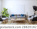 White canvas on the wall in the living room 28820182