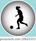 woman play soccer 28820353